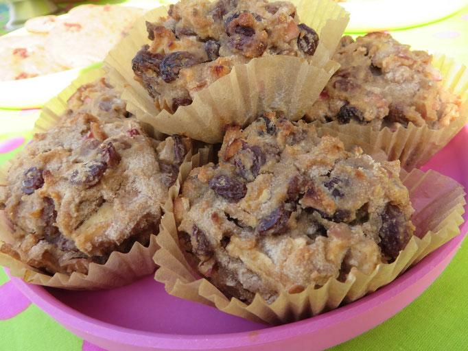 Gluten-, zucker- und fettfrei - und trotzdem unglaublich lecker: Rosinen-Zimt-Apfel-Muffins