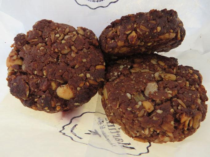 Wir bekamen von einem Besucher sogar selbstgebackene vegane Cookies im Tausch gegen unsere Muffins angeboten.
