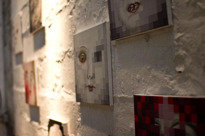 Peinture, conversation avec l'image - portraits Nathalie Si Pié (détail)