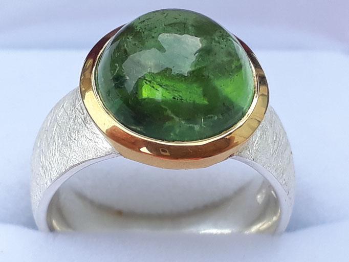 ring-turmalin-gruen-12 mm-silber-925-sterling-fassung vergoldet
