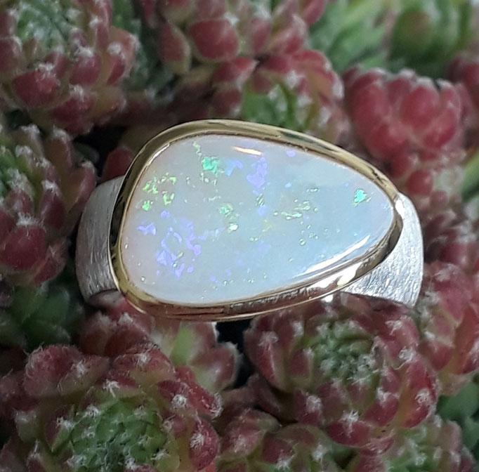 verkauft-ring-opal-unikat-sterling-silber-925-fassung vergoldet
