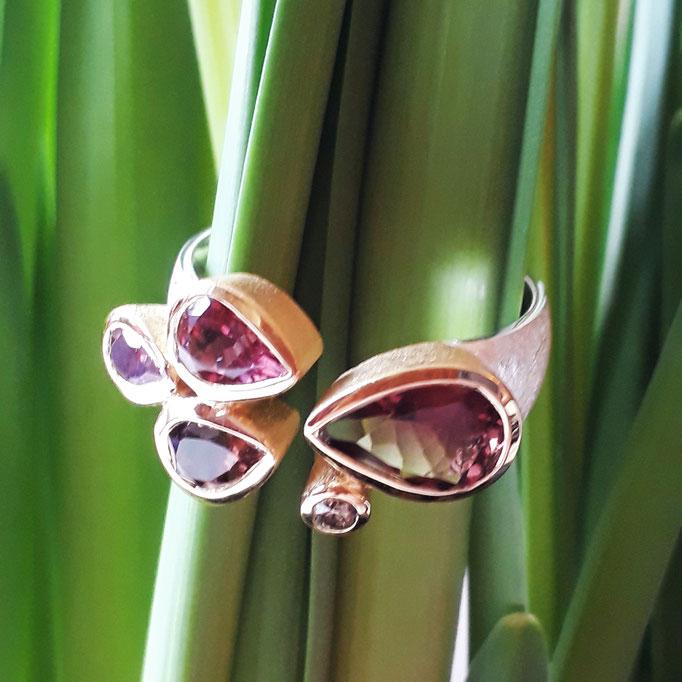 ring-turmalin-rosé-silber-925-sterling-fassung vergoldet-groessenverstellbar-verkauft