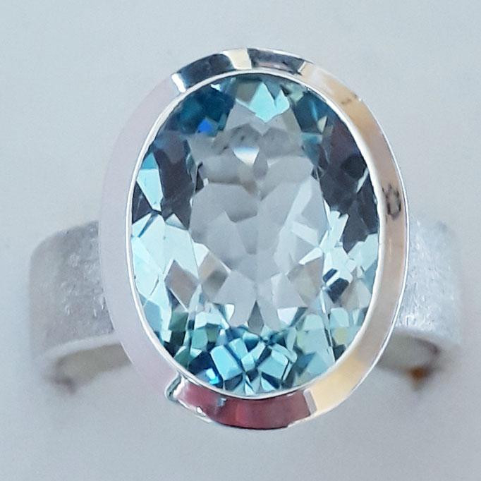 ring-blautopas-beh.-12x16mm-super Stein-sterling-silber-925