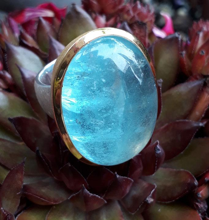 ring-aquamarin-32x23 mm-sterling-silber-vergoldet-bildschoener stein- sehr groß -verkauft-