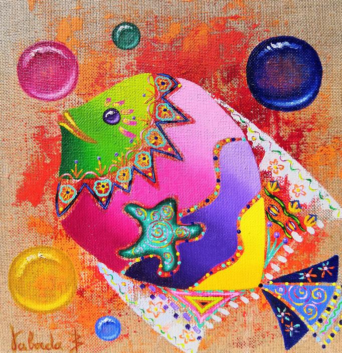 Poisson étoile, 20x20cm, n°46, disponible