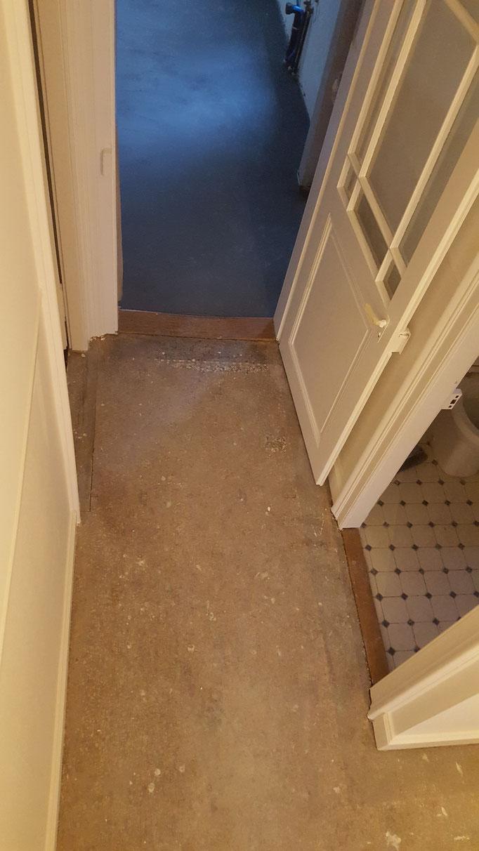 Terrazzo mit Teppichkleber