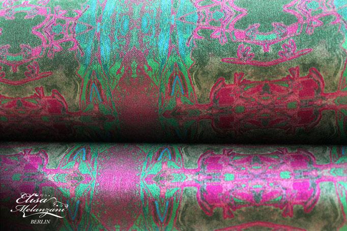 Design -fairy kingsuite- Kollektion: TREASURY olivine - Seidenstoff  © ELISA MELANZANI BERLIN