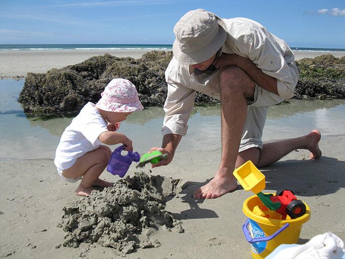Sandelspaß und Burgenbau