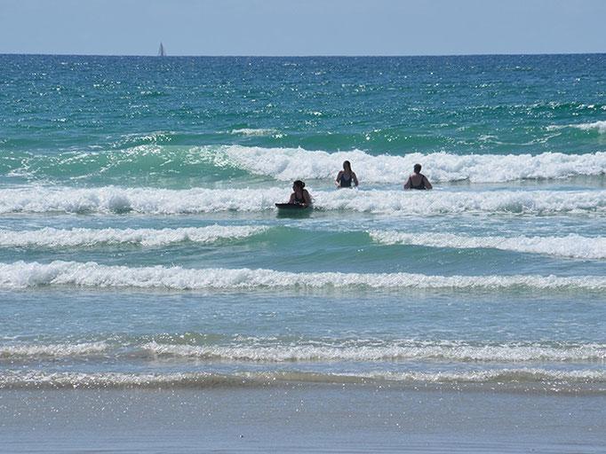 Wellenreiten im Atlantik