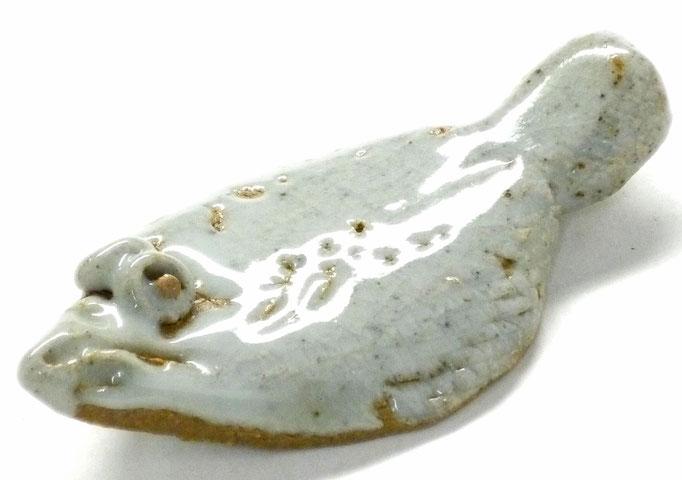 九谷焼【箸置き】ヒラメ 灰色