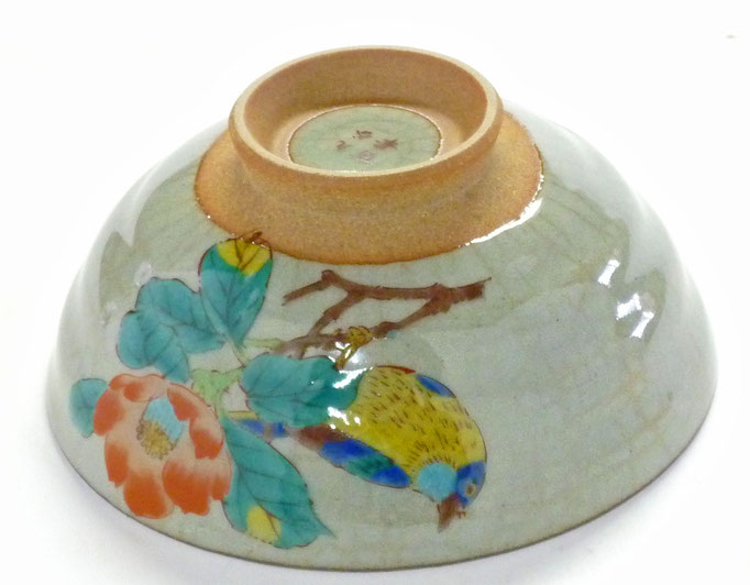 九谷焼通販 おしゃれ 飯碗 ご飯茶碗 ギフト 小 椿に鳥 中絵