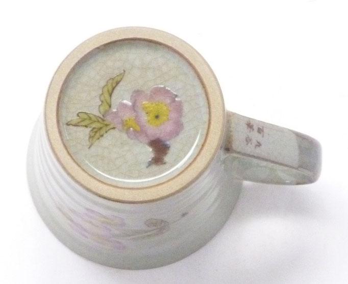 九谷焼『マグカップ』兎 ソメイヨシノ『裏絵』