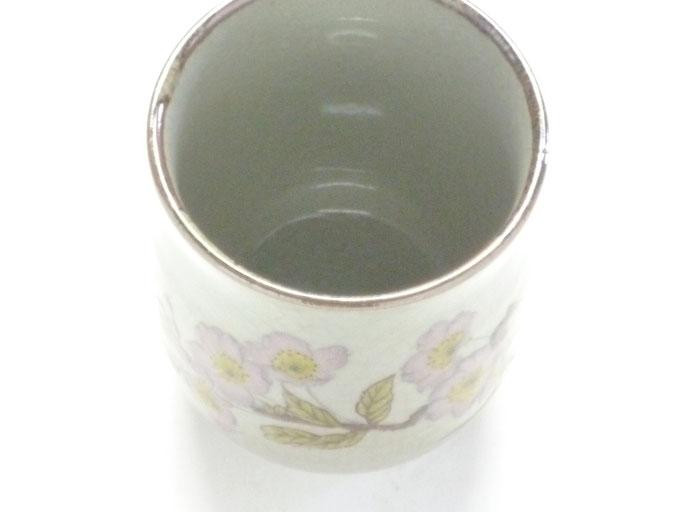 九谷焼通販 お湯呑 湯飲み ゆのみ茶碗 大 ソメイヨシノ 裏絵 中の図