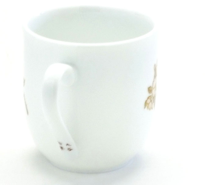 九谷焼【マグカップ】(磁器)しだれ桜 中裏絵