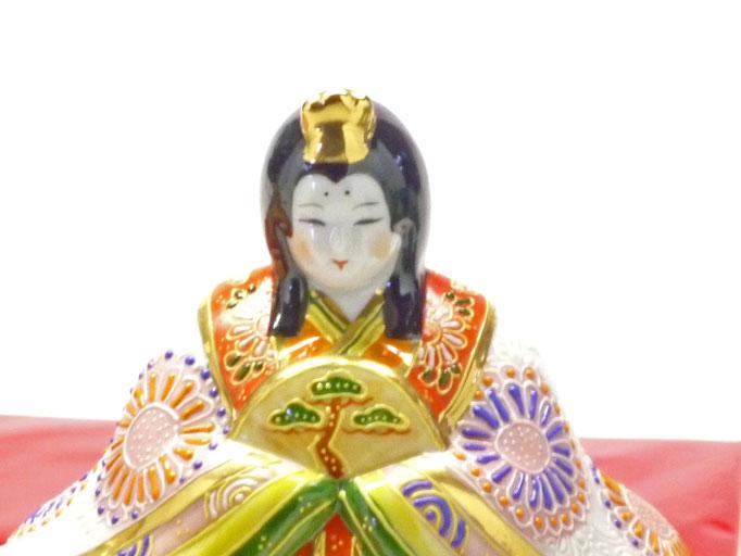 九谷焼 雛人形 お雛様 初節句 座り雛 5号 デコ盛 女雛の図