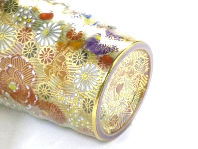 九谷焼【マグカップ】加賀のお殿様・お姫様キブン(金花詰)『裏絵』