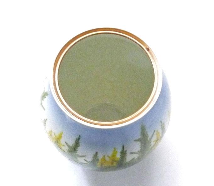九谷焼通販 おしゃれな花瓶 花器 杉木立 上からの図