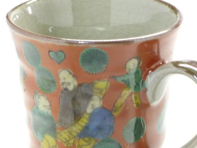 九谷焼『マグカップ』木米写し『裏絵』