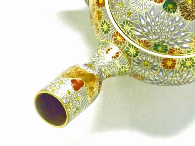 九谷焼×萬古焼『急須』小 加賀のお殿様・お姫様気分(金花詰)最高版
