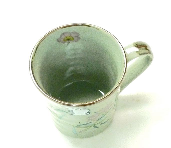 九谷焼通販 マグカップ マグ 白兎なでしこ&ソメイヨシノ 中裏絵