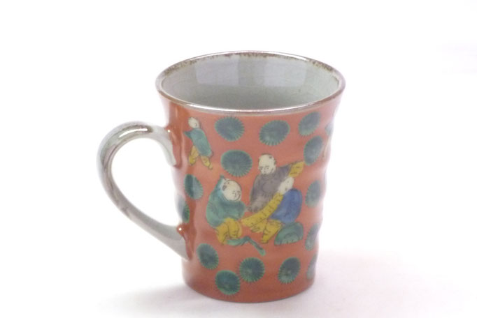 九谷焼通販 おしゃれなマグカップ マグ 木米写し 背中の図