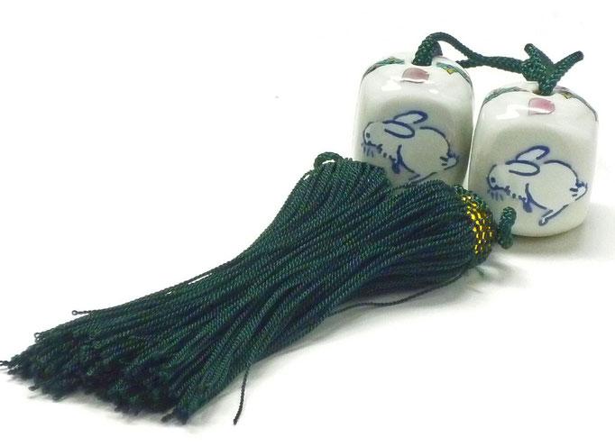 九谷焼通販 おしゃれ 風鎮 床の間関連 掛け軸 桜 ソメイヨシノ ウサギ 白兎 小紋 四角