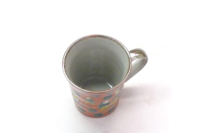九谷焼通販 おしゃれなマグカップ マグ 木米写し 中の図