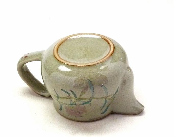 九谷焼通販 おしゃれな急須 茶器 ティーポット 小 白兎なでしこ『裏絵』裏の図