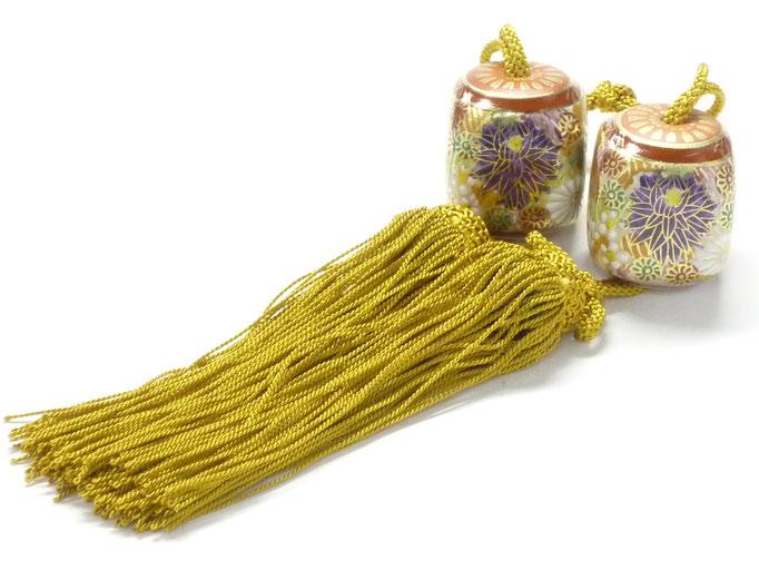 九谷焼【風鎮】加賀のお殿様・お姫様キブン(金花詰)釉薬なし