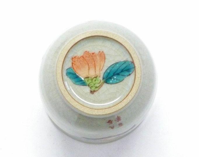 九谷焼 お湯呑 小 椿に鳥 裏絵