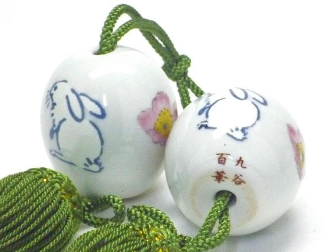 九谷焼通販 おしゃれ 風鎮 床の間関連 掛け軸 桜 ソメイヨシノ ウサギ