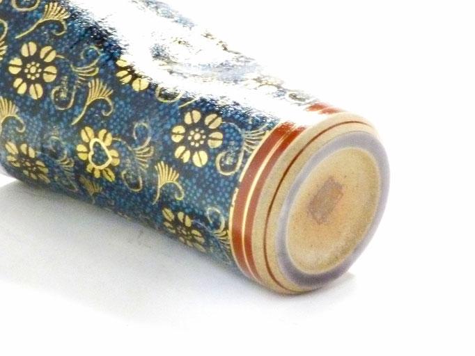 九谷焼【ビアカップ・ビアグラス】青粒 ハンコ版