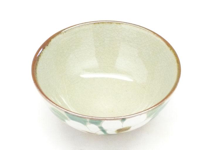 九谷焼通販 おしゃれ ギフト 飯碗 ご飯茶碗 ちゃわん 大  銀椿 ツバキ