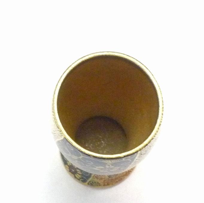 九谷焼【特大ビアカップ・ビアグラス】 青粒+金花詰(傑作)