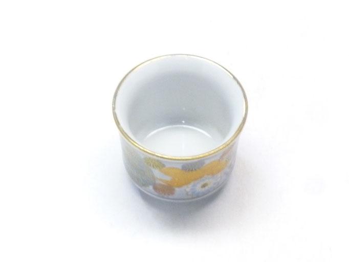 九谷焼通販 おしゃれなぐい呑み 盃 酒器 青花詰(ハンコ版)