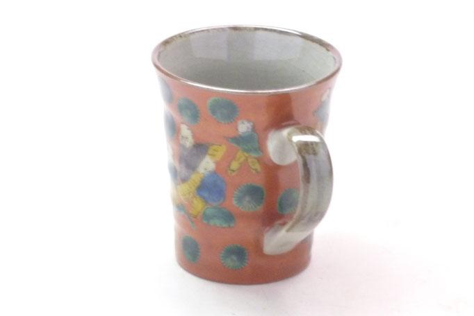 九谷焼通販 おしゃれなマグカップ マグ 木米写し 持ち手の図