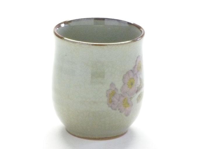 九谷焼通販 お湯呑 湯飲み ゆのみ茶碗 大 ソメイヨシノ 裏絵 横の図