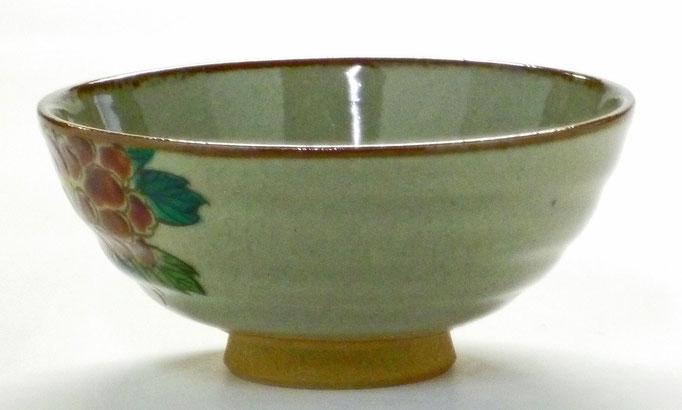 九谷焼通販 おしゃれ ギフト 飯碗 ご飯茶碗 ちゃわん 大 色絵牡丹 花柄