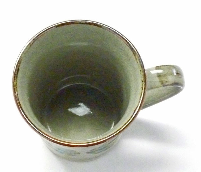 九谷焼【マグカップ】丸紋松竹梅『裏絵』