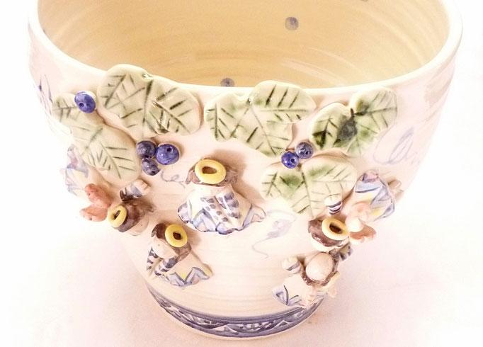 九谷焼 花器 天使のプランター