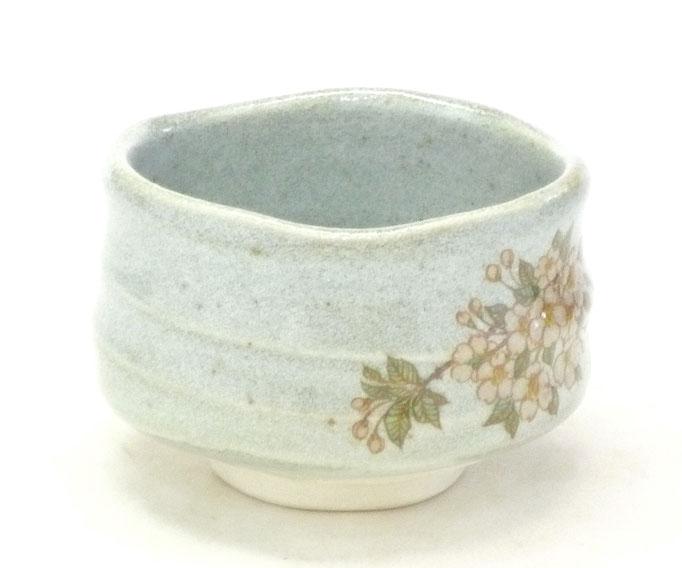 九谷焼通販 抹茶碗 抹茶茶碗 茶道具 しだれ桜