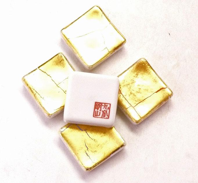 九谷焼【箸置き】金箔彩
