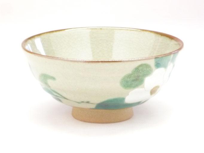九谷焼 飯碗 大 銀椿