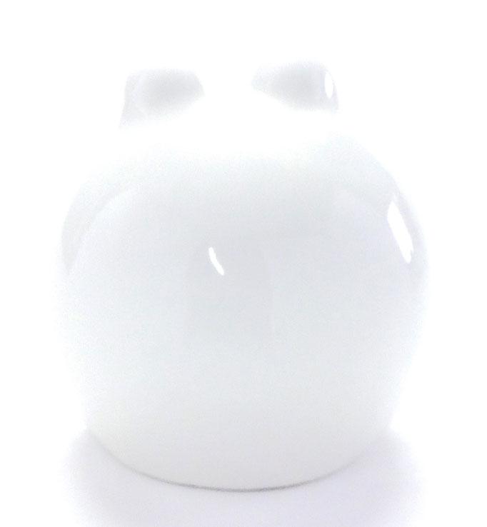 九谷焼【ホワイト蛙】大 ハート 裏書