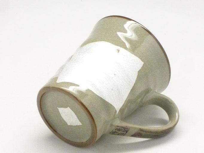 九谷焼 マグカップ 白銀彩 裏絵