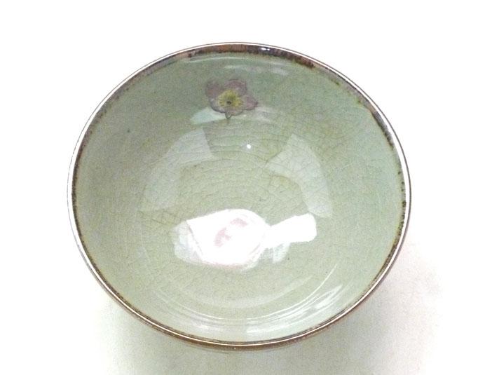 九谷焼通販 おしゃれ ギフト 飯碗 茶わん ご飯茶碗 小 桜 ソメイヨシノ 中絵 中の図