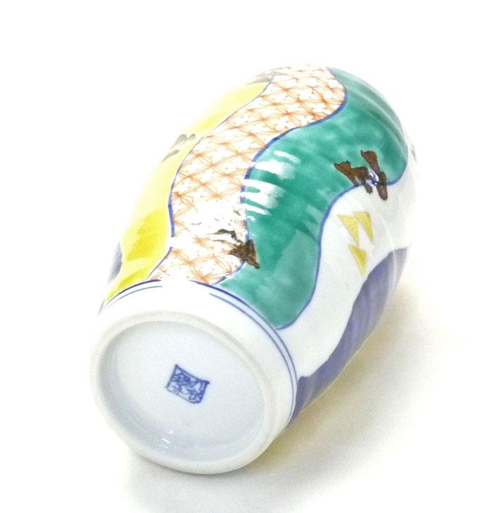 九谷焼通販 おしゃれな花瓶 花器 色絵 紙風船 高台の図