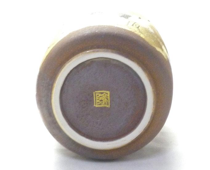 九谷焼通販 おしゃれな花瓶 花器 鶴紋 高台の図