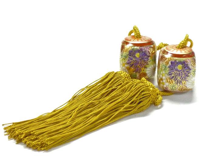 九谷焼通販 おしゃれ 風鎮 床の間関連 掛け軸 加賀のお殿様・お姫様気分 金花詰 ハート