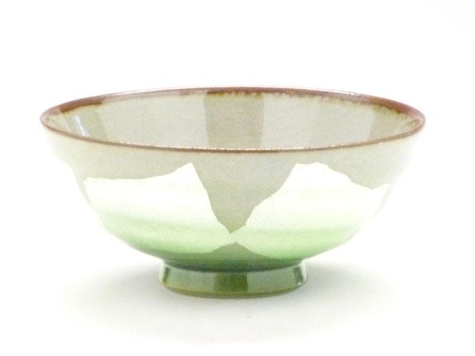 九谷焼飯碗 銀彩